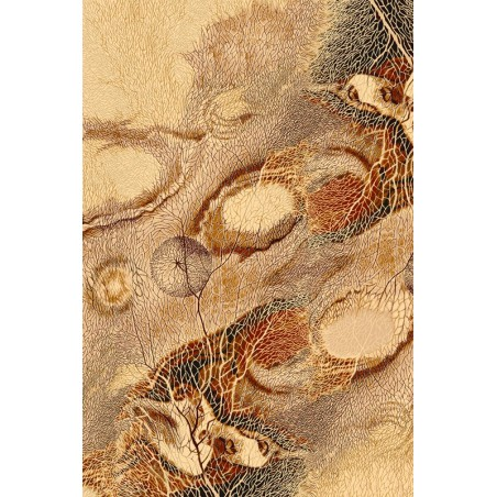 Bellona gyapjú szőnyeg absztrakt természet borostyán - 1