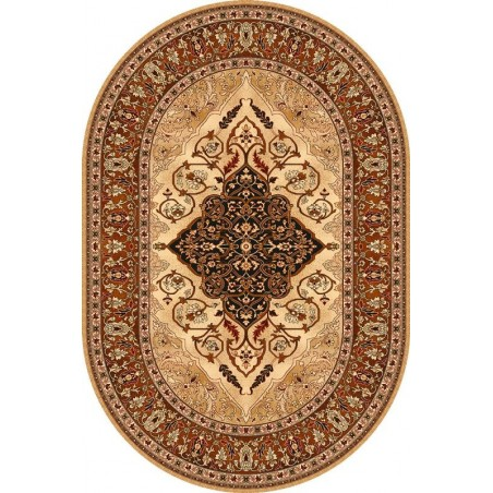Bursztyn ovális gyapjú szőnyeg borostyán színű - 1