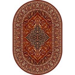 Leyla ovális gyapjú szőnyeg rubin színű - 1