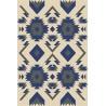 Halioka gyapjú szőnyeg kék formákkal - 1