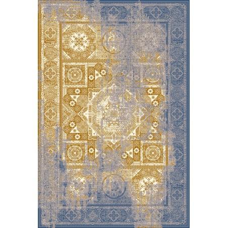 Sárga és kék Liavotti gyapjúszőnyeg - 1