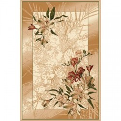 Szőnyeg barna árnyalatú virágok - 1