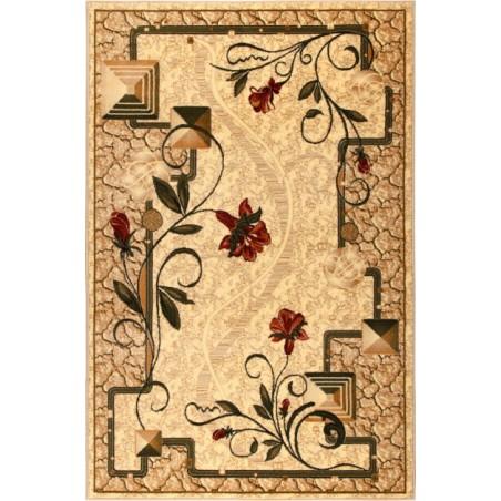 Modern krém szőnyeg virággal 587 - 1