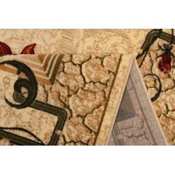 Modern krém szőnyeg virággal 587 - 2