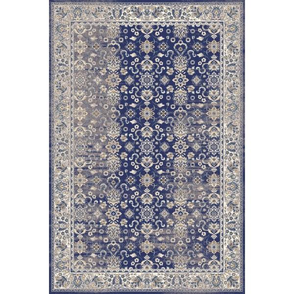 Sötétkék Taria gyapjú szőnyeg - 1