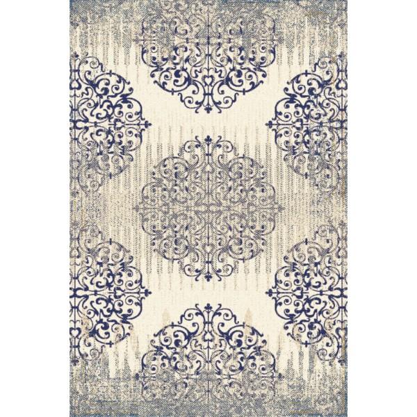 Sötétkék Aneto gyapjú szőnyeg - 1