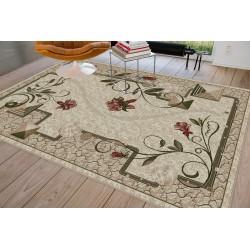 Modern krém szőnyeg virággal 587 - 3