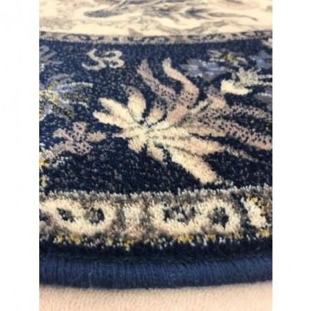 Sötétkék ovális Olandia gyapjúszőnyeg - 1