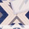 Halioka gyapjú szőnyeg kék formákkal - 3